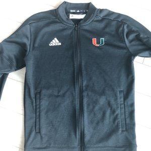 Adidas men's Miami Hurricanes zip-up jacket